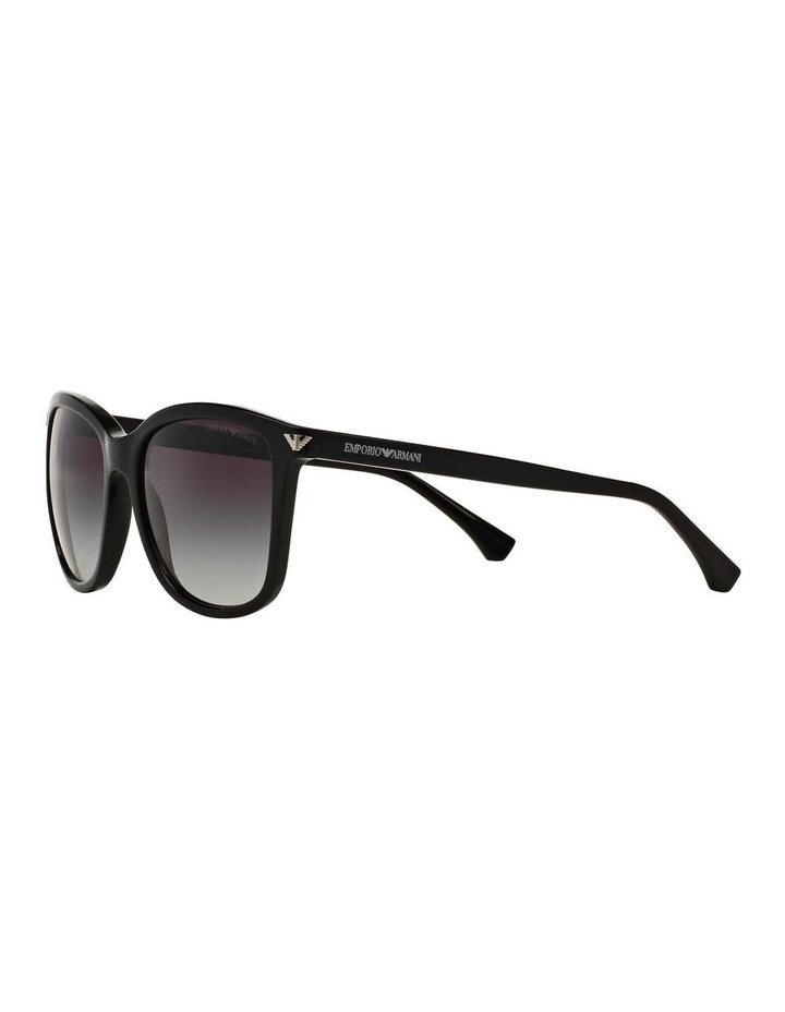 Black Square Sunglasses EA4060F 387579 image 3