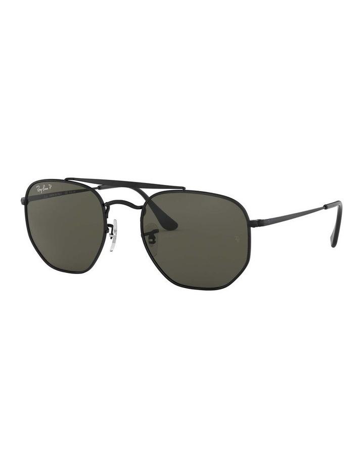 The Marshal Polarised Black Hexagonal Sunglasses 0RB3648 1517424003 image 1