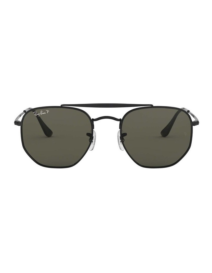 The Marshal Polarised Black Hexagonal Sunglasses 0RB3648 1517424003 image 2