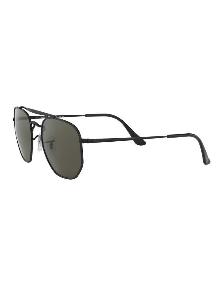 The Marshal Polarised Black Hexagonal Sunglasses 0RB3648 1517424003 image 3