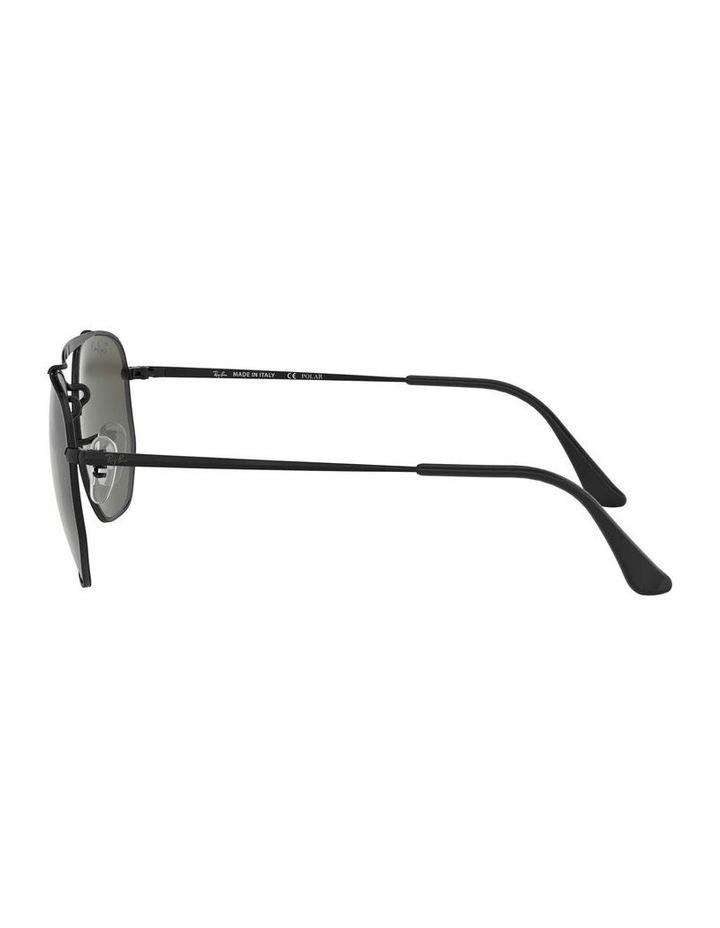 The Marshal Polarised Black Hexagonal Sunglasses 0RB3648 1517424003 image 4