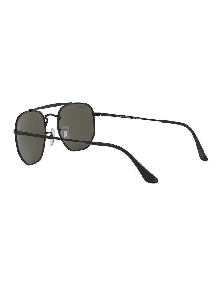 The Marshal Polarised Black Hexagonal Sunglasses 0RB3648 1517424003 image 5