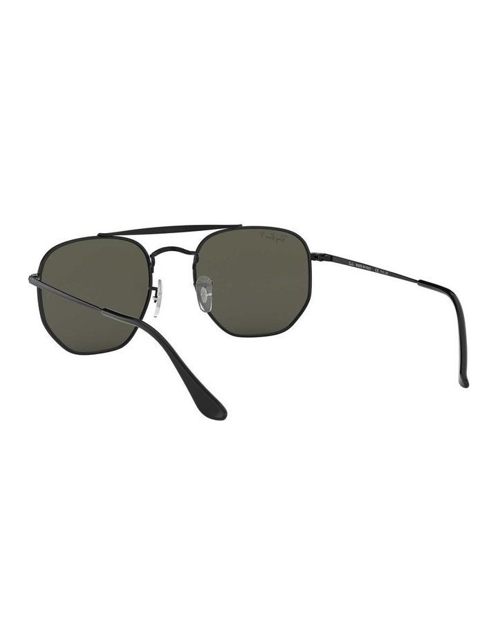 The Marshal Polarised Black Hexagonal Sunglasses 0RB3648 1517424003 image 6