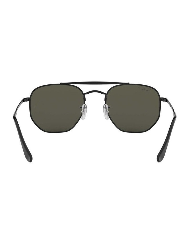 The Marshal Polarised Black Hexagonal Sunglasses 0RB3648 1517424003 image 7