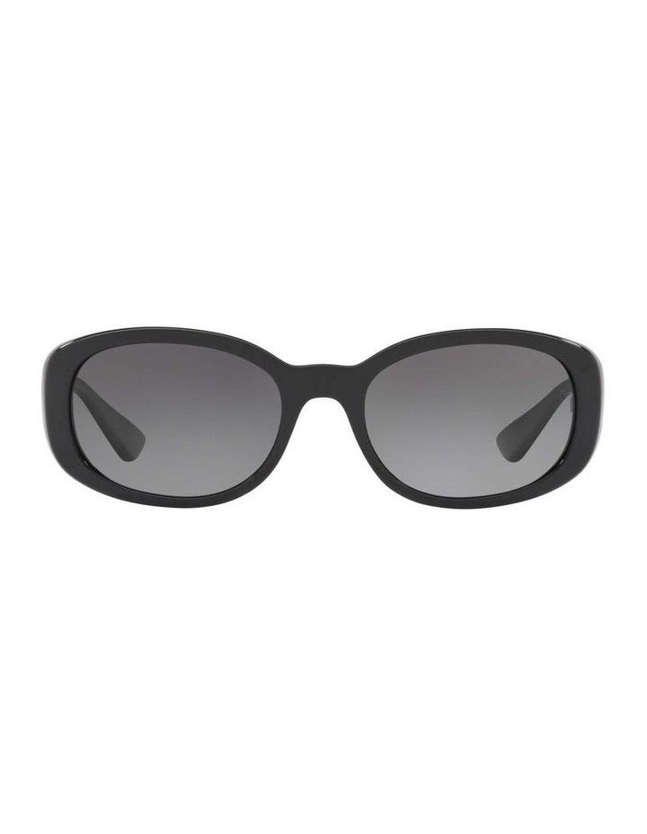 Polarised Black Rectangle Sunglasses HU2010 413005 image 2