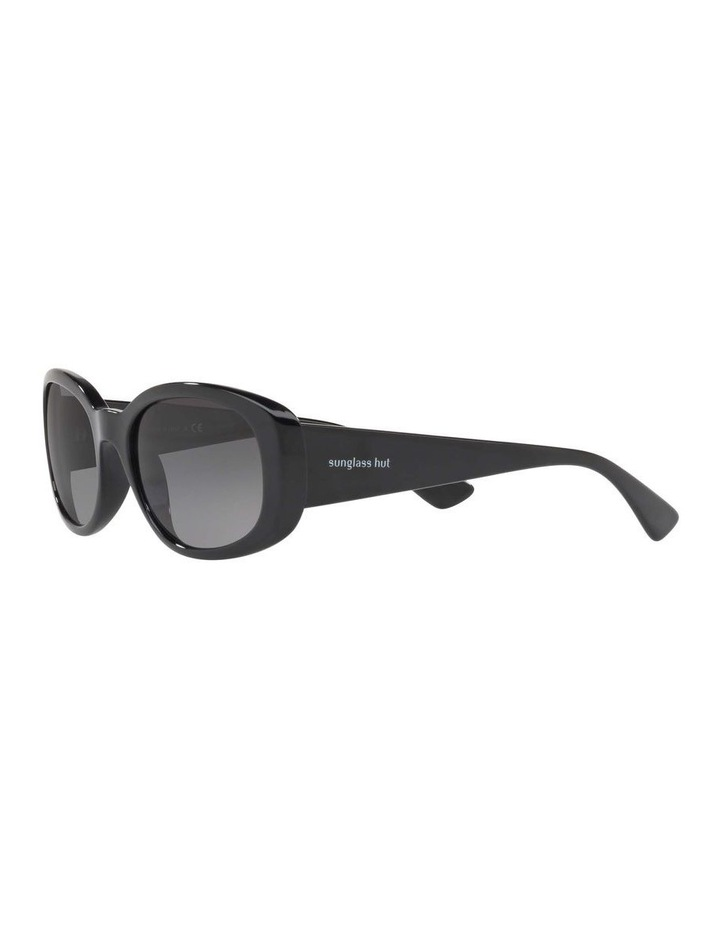 Polarised Black Rectangle Sunglasses HU2010 413005 image 3