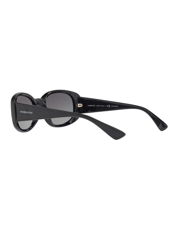 Polarised Black Rectangle Sunglasses HU2010 413005 image 5