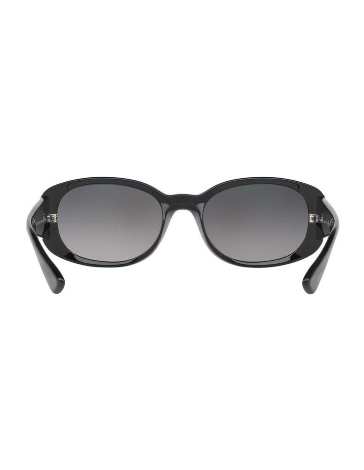 Polarised Black Rectangle Sunglasses HU2010 413005 image 7
