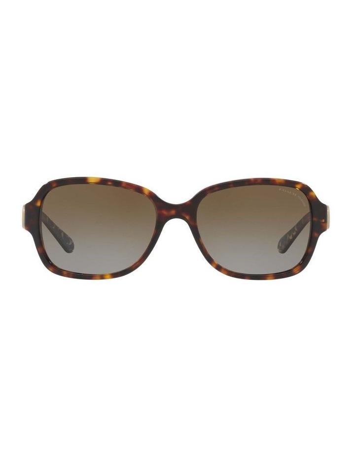 Polarised Tortoise Rectangle Sunglasses HC8241 434369 image 2