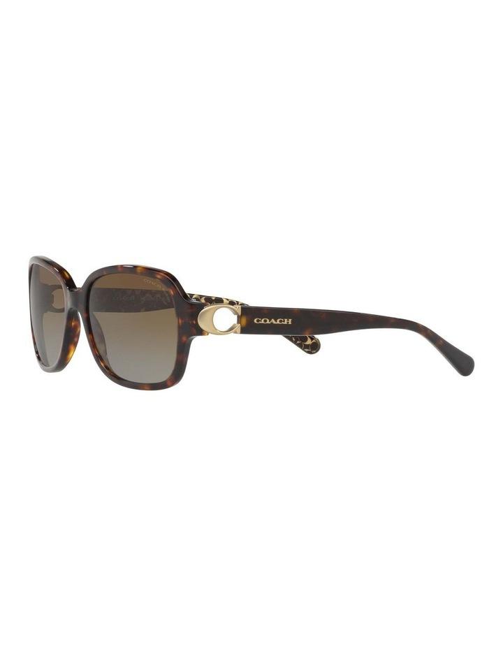 Polarised Tortoise Rectangle Sunglasses HC8241 434369 image 3