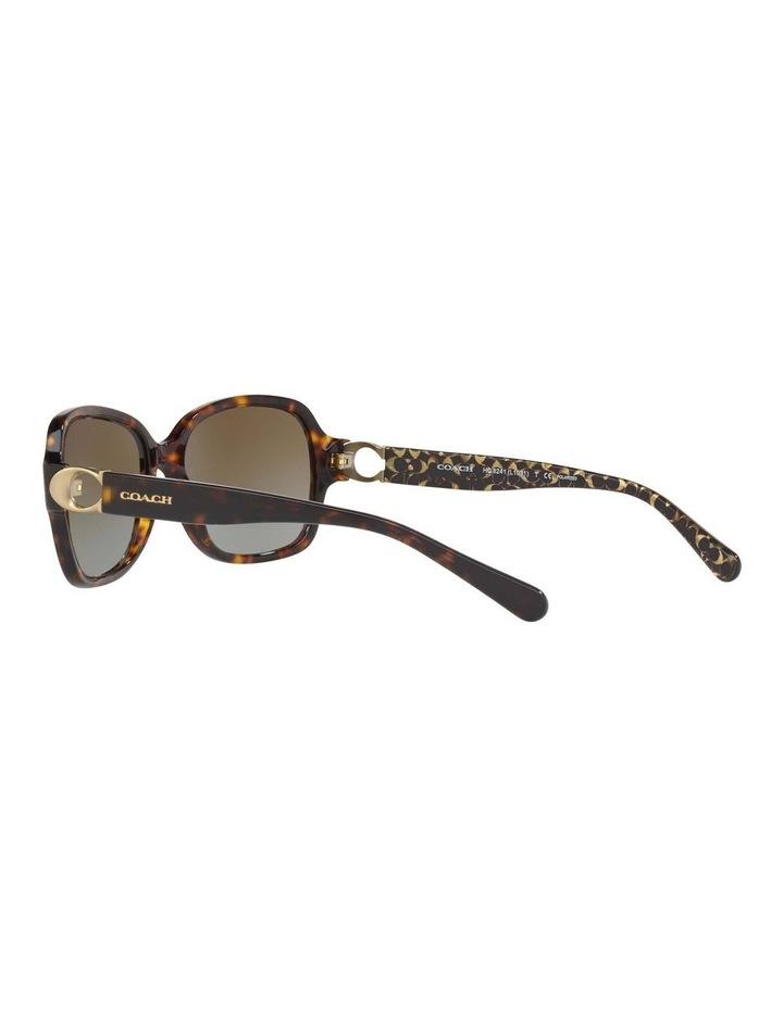 Polarised Tortoise Rectangle Sunglasses HC8241 434369 image 5