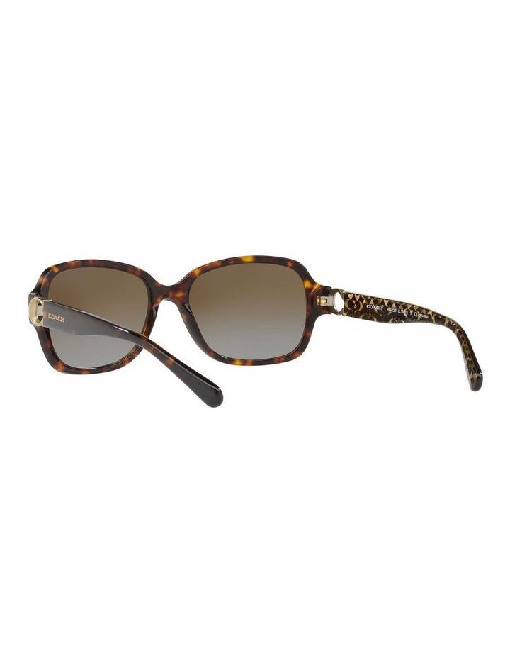 Polarised Tortoise Rectangle Sunglasses HC8241 434369 image 6