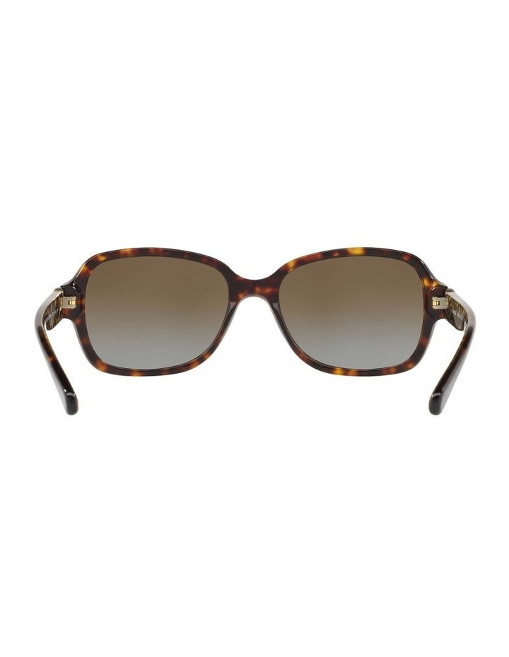 Polarised Tortoise Rectangle Sunglasses HC8241 434369 image 7