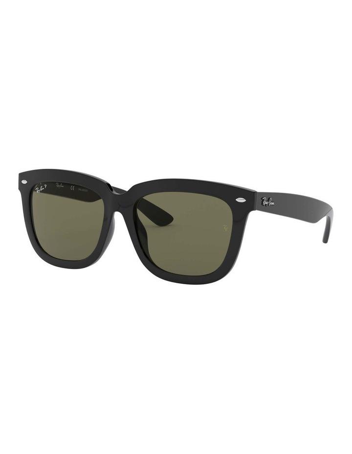 Polarised Black Square Sunglasses 0RB4262D 1516911004 image 1