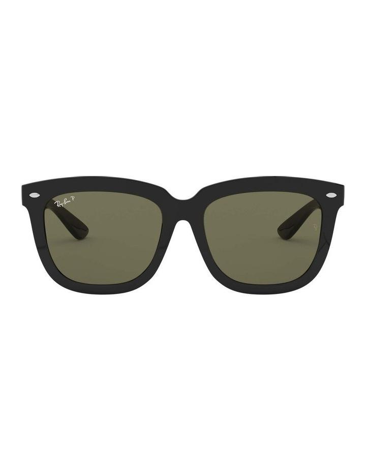 Polarised Black Square Sunglasses 0RB4262D 1516911004 image 2