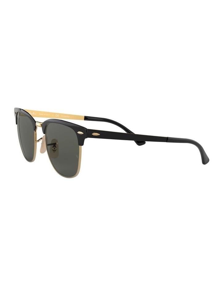 Clubmaster Metal Polarised Gold Sunglasses 0RB3716 1518519004 image 3
