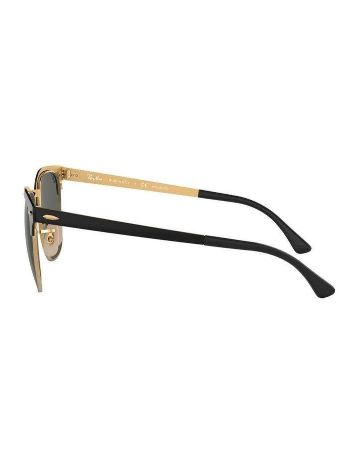 Clubmaster Metal Polarised Gold Sunglasses 0RB3716 1518519004 image 4