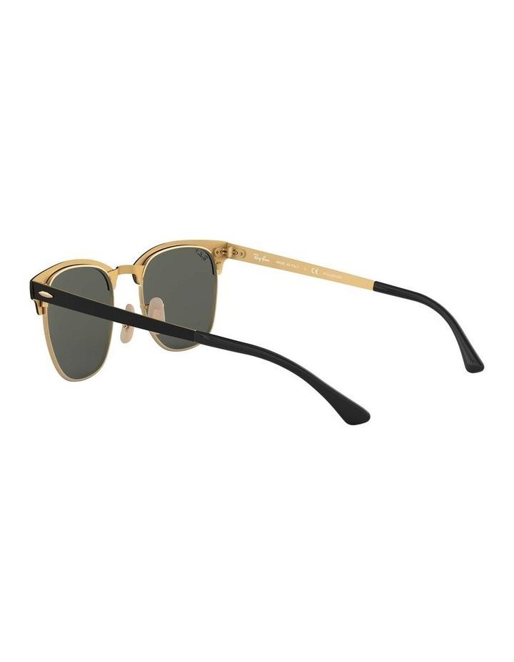 Clubmaster Metal Polarised Gold Sunglasses 0RB3716 1518519004 image 5