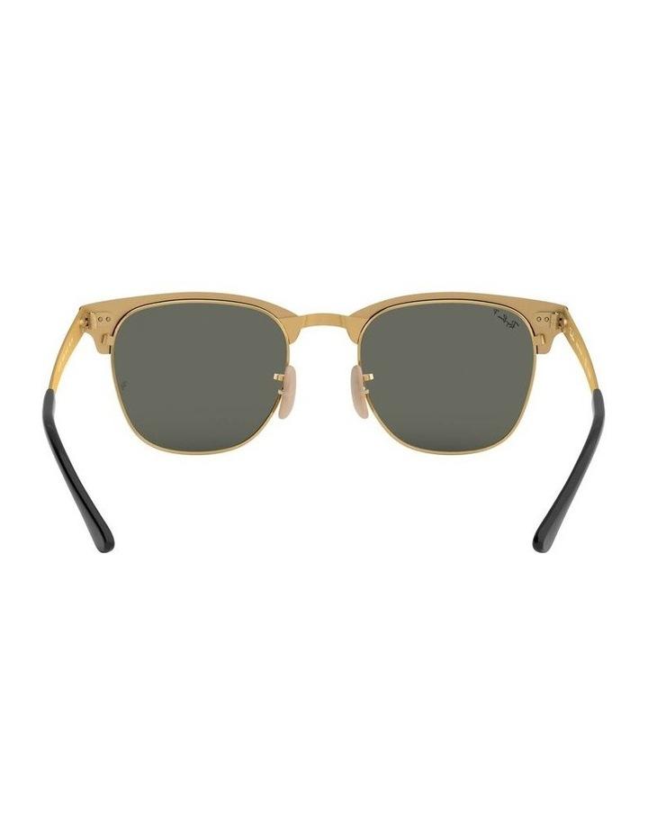 Clubmaster Metal Polarised Gold Sunglasses 0RB3716 1518519004 image 7