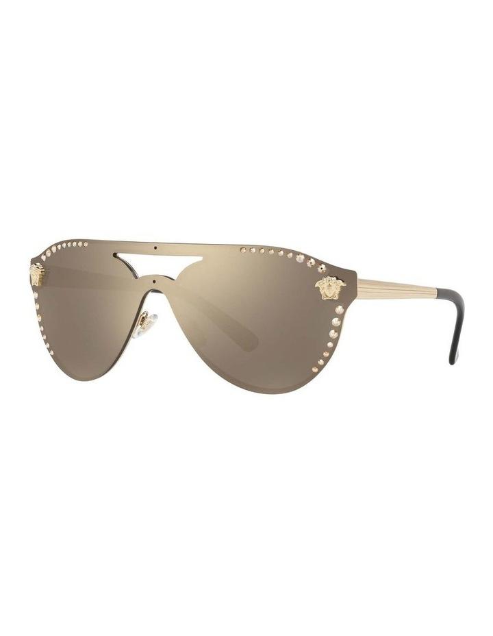 Gold Rimless Cat Eye Sunglasses VE2161B 434432 image 1