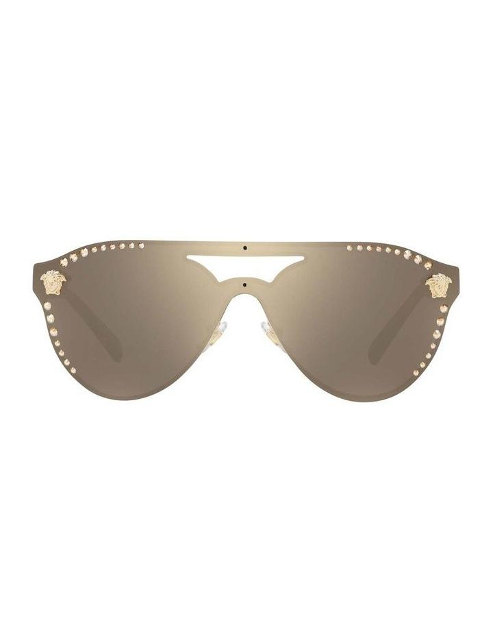 Gold Rimless Cat Eye Sunglasses VE2161B 434432 image 2