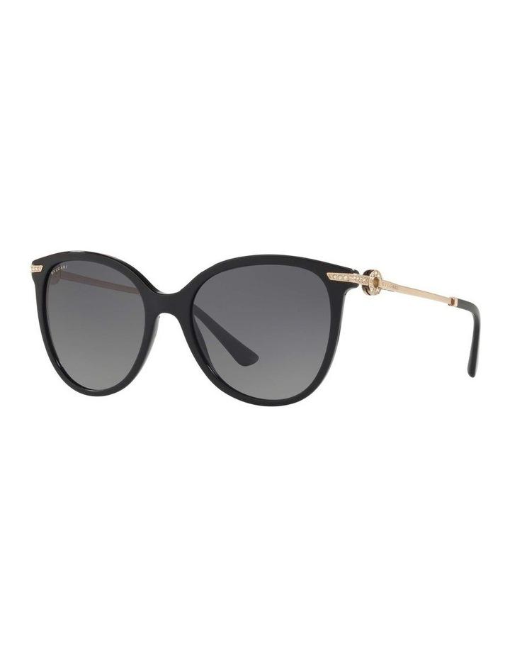 Polarised Grey Round Sunglasses BV8201B 432976 image 1