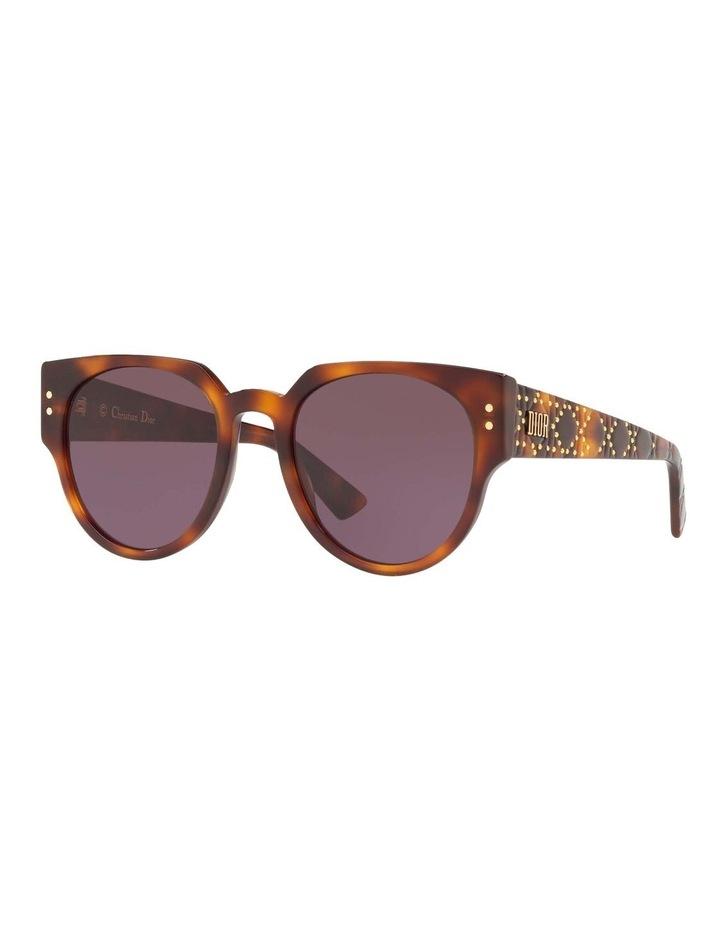 Ladydiorstuds3 Studs 3 Purple Round Sunglasses 437430 image 1