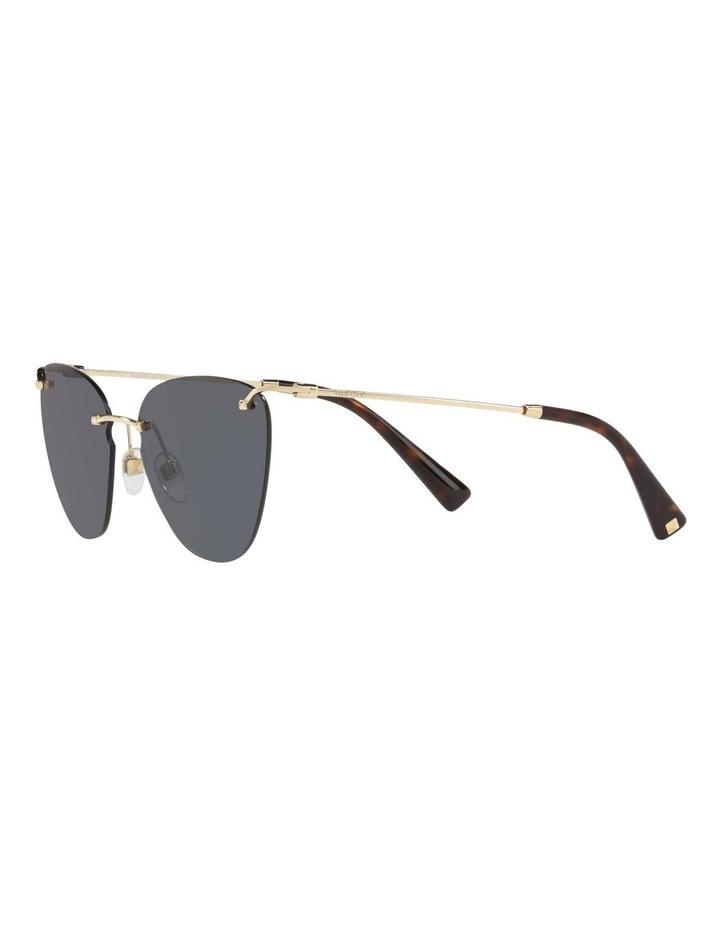 Grey Metal Cat Eye Sunglasses VA2022 437593 image 3