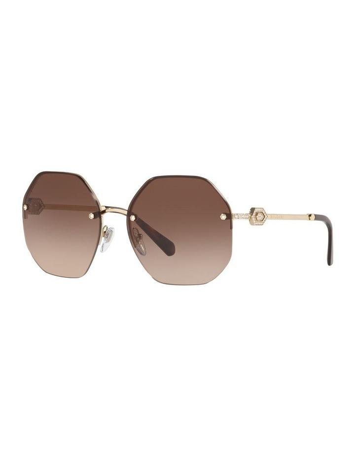 Brown Geometric Sunglasses 0BV6122B 1524551002 image 1