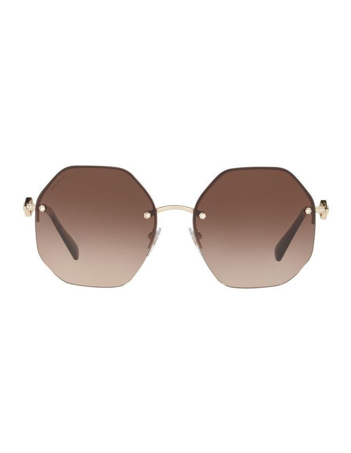 Brown Geometric Sunglasses 0BV6122B 1524551002 image 2