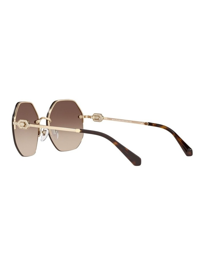 Brown Geometric Sunglasses 0BV6122B 1524551002 image 5