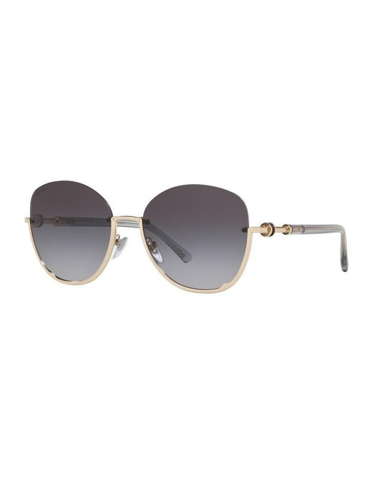 Grey Reverse Half Rim Square Sunglasses 0BV6123 1524552002 image 1