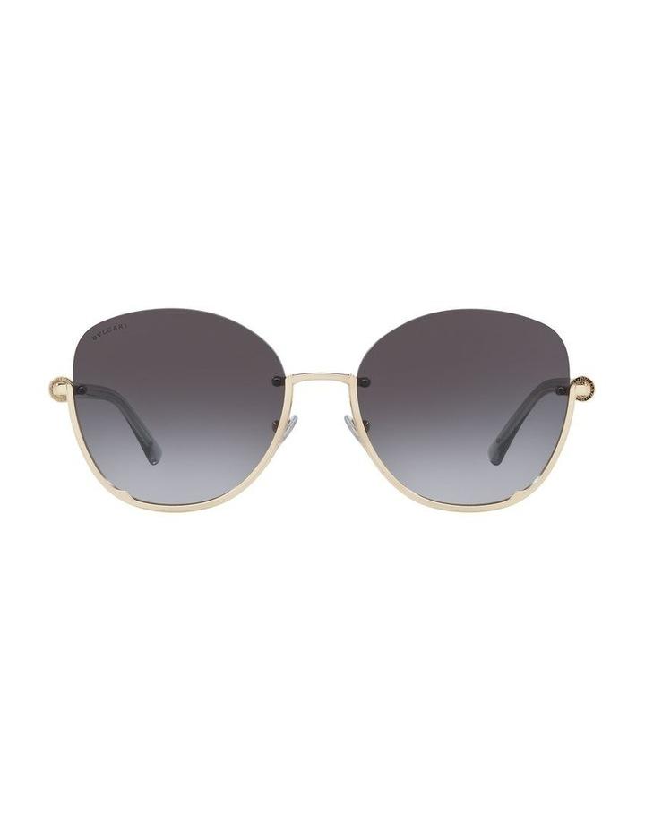 Grey Reverse Half Rim Square Sunglasses 0BV6123 1524552002 image 2