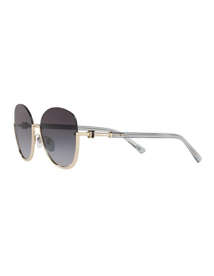 Grey Reverse Half Rim Square Sunglasses 0BV6123 1524552002 image 3