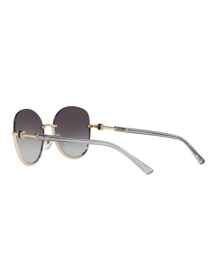 Grey Reverse Half Rim Square Sunglasses 0BV6123 1524552002 image 5