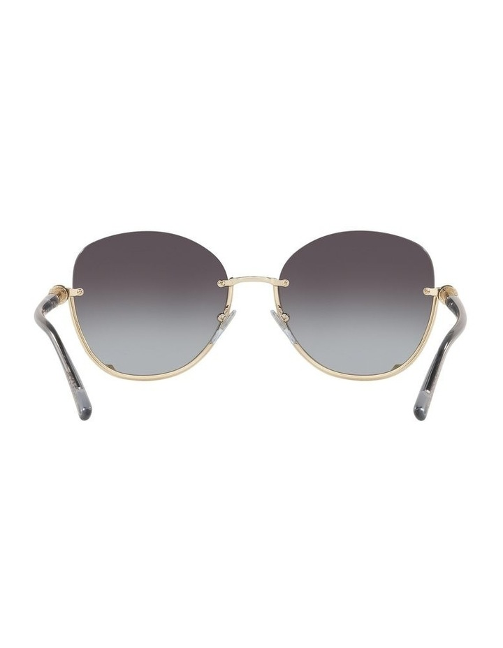 Grey Reverse Half Rim Square Sunglasses 0BV6123 1524552002 image 7