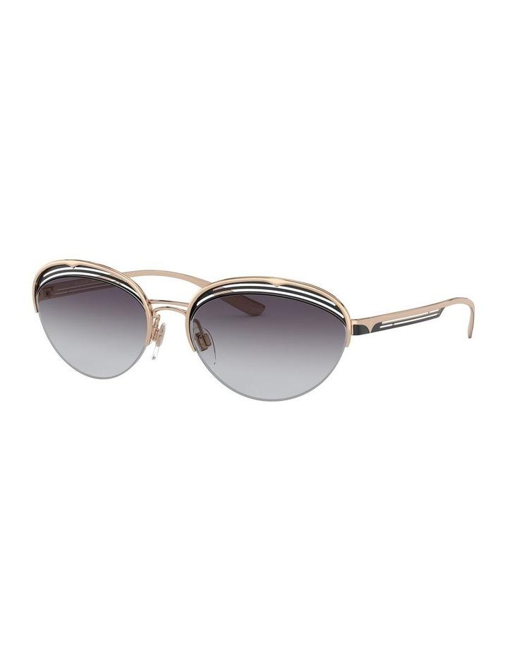 Grey Half Rim Oval Sunglasses 0BV6131 1526888002 image 1