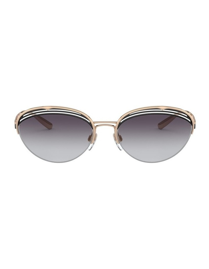 Grey Half Rim Oval Sunglasses 0BV6131 1526888002 image 2