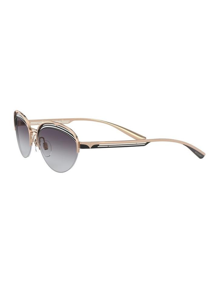 Grey Half Rim Oval Sunglasses 0BV6131 1526888002 image 3