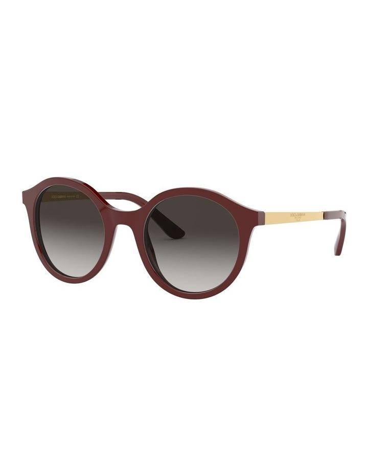 Grey Round Sunglasses 0DG4358 1524014001 image 1