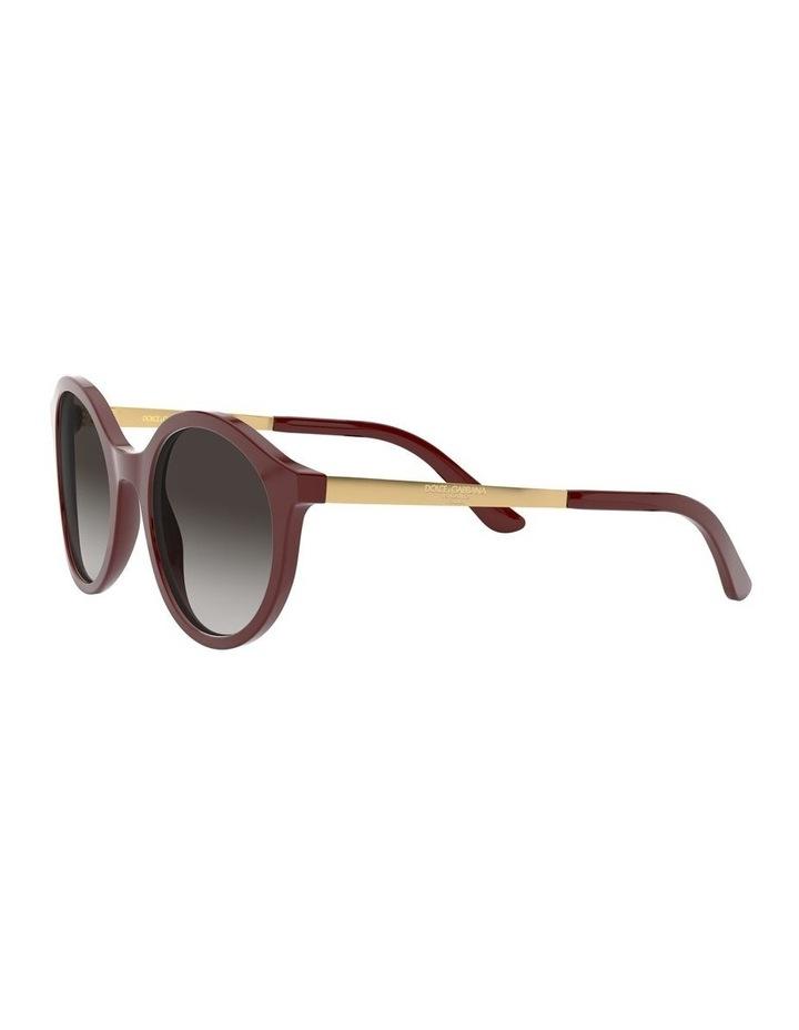 Grey Round Sunglasses 0DG4358 1524014001 image 3