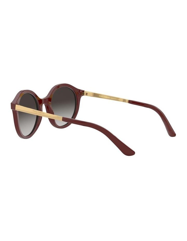 Grey Round Sunglasses 0DG4358 1524014001 image 5