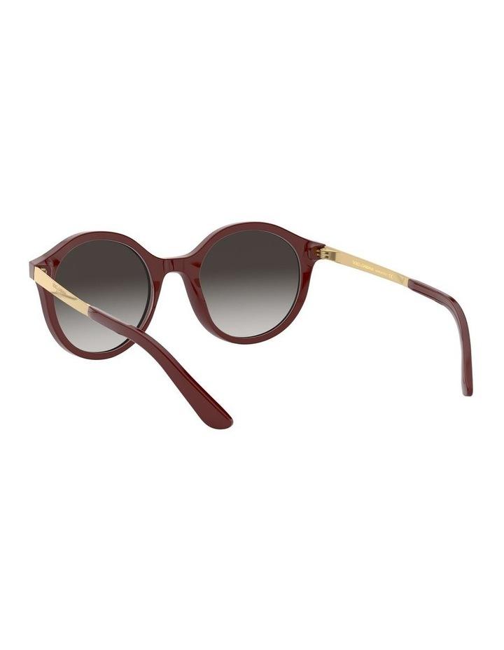 Grey Round Sunglasses 0DG4358 1524014001 image 6