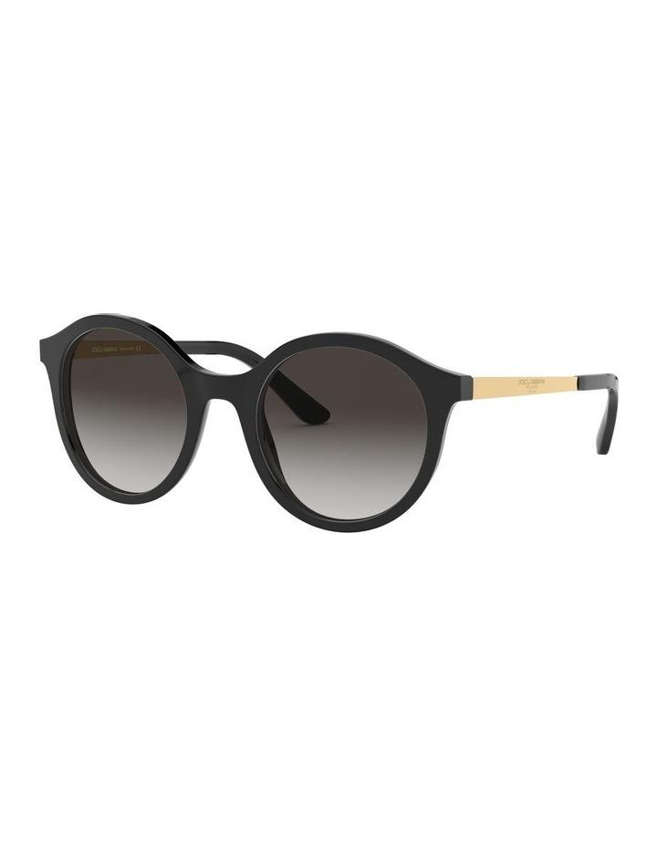 Grey Round Sunglasses 0DG4358 1524014002 image 1