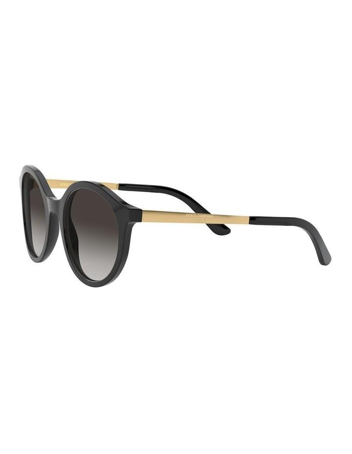 Grey Round Sunglasses 0DG4358 1524014002 image 3