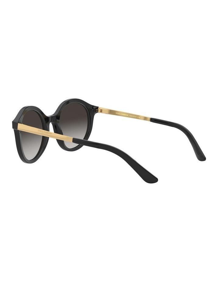 Grey Round Sunglasses 0DG4358 1524014002 image 5