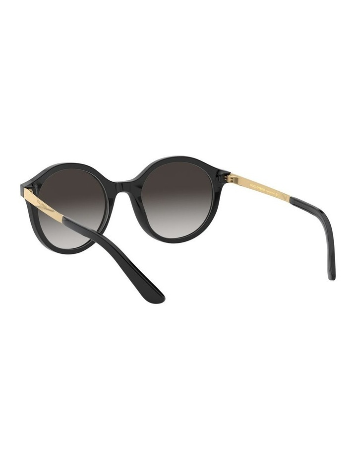 Grey Round Sunglasses 0DG4358 1524014002 image 6
