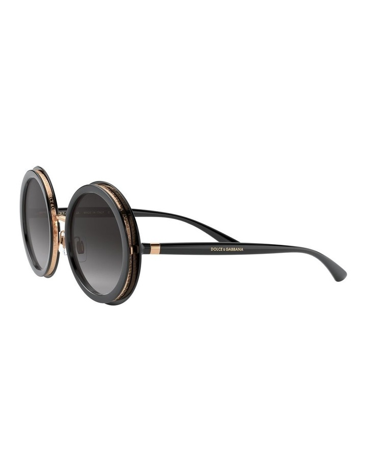 Grey Round Sunglasses 0DG6127 1527854001 image 3