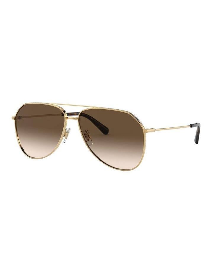 Brown Aviator Sunglasses 0DG2244 1527856001 image 1