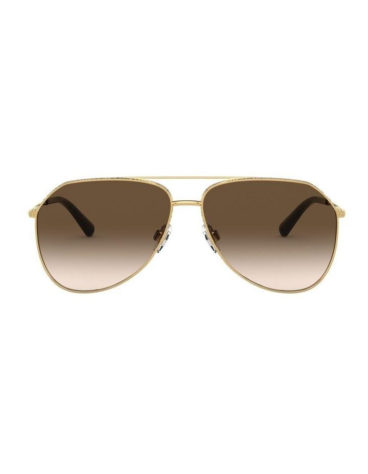 Brown Aviator Sunglasses 0DG2244 1527856001 image 2